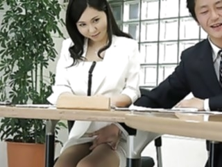 Japanese lady, Miyuki Ojima got fingered, uncensored asian blowjob brunette