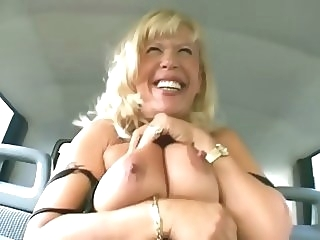 Granny goes for a ride - Sascha Production mature big tits straight