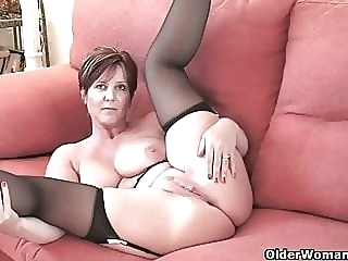 British milf Joy exposing her big tits and hot fanny amateur mature milf