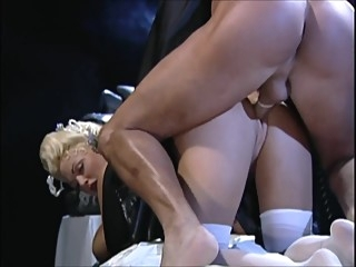 Classic DP: Stacy Valentine 7 anal double penetration blond