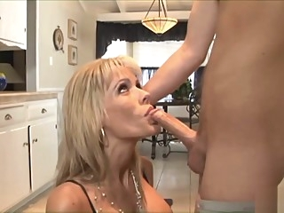 Tattooed guy bangs a blonde hottie big tits hardcore mature