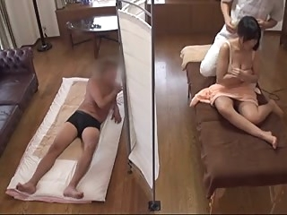 Husband Watches Japanese Wife Get a Naughty Massage - 1 asian facial milf