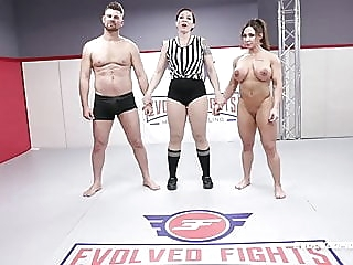 Brandi Mae rough wrestling sex fight vs Jack Friday blowjob fingering pornstar