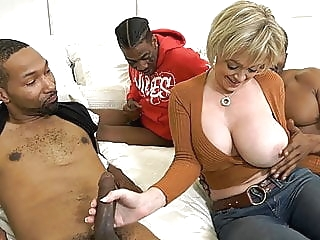 Hot Cougar Wife Dee Williams Gets Pounded By BBC anal blowjob interracial