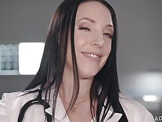 ASMR Fantasy Dr. Angela White gives Full Body Physical Exam blowjob cumshot fingering