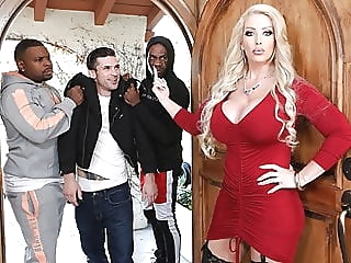 Stepmom Alura Jenson Gets DPd In Front Of Her Stepson anal blowjob interracial