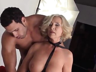 Granny seduction anal blonde cumshot