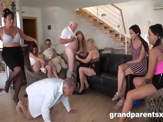 Perverted Grandparents Orgy Part 1 big tits blonde brunette