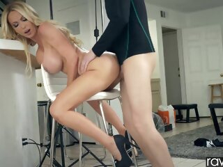 Nikki Benz big cock big tits blonde