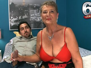 Getting To Know 64-Year-Old Wife Joanne Price - Joanne Price - 60PlusMilfs big tits granny handjob