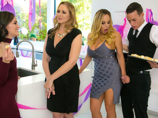 Julia Ann Olivia Austin Justin Hunt in My Stepmoms Social Club - BrazzersNetwork big ass big tits cunnilingus