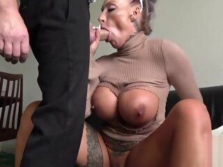 Milf submissive throats and gets analized anal big tits blonde