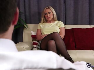 CumPerfection - Karlie Simon Wifes Best Friend big tits blonde casting