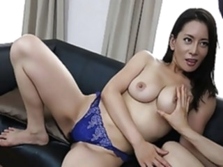 Japanese mature, Rei Kitajima likes it doggy- style and unce asian blowjob brunette