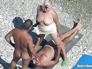 Mature Nudist Granny Milf Fucked At The Beach with voyeurs beach mature hidden camera