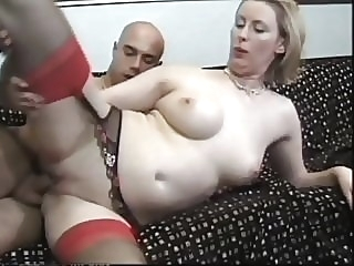 He has a thing for this British blonde MILF in stockings blonde top rated stockings