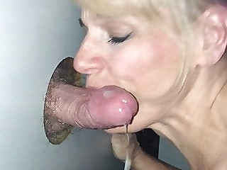 Glory Hole Slut Gets the Cum blonde blowjob cumshot