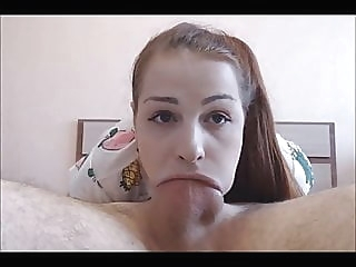 Teen Loves To Deepthroat Suck amateur blowjob cumshot