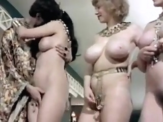 CC - Arabian Nights (1979) interracial group sex cunnilingus