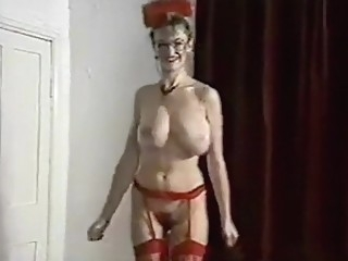 ALL YOUR LOVIN' - British big bouncy tits striptease dance blond lingerie big tits
