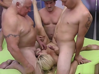 stepmom gets fisted at the gangbang orgy hardcore blowjob anal