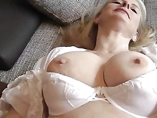 Cum in MUM blowjob mature creampie