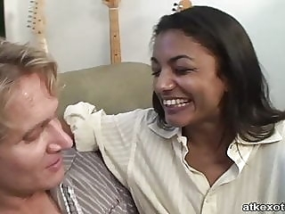 Indian with white guy asian interracial doggy style