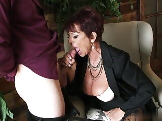 The start of my granny fetish 0373 blowjob facial stockings