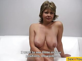 53 year old Drahomira fucks at the casting mature granny hd videos