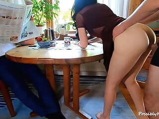 He Ignored His Wife Cheating In Front of Him with His Best Friend amateur milf cuckold