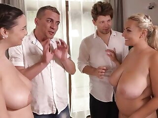 Busty Sofia Lee And Krystal Swift Have Orgasmic Group Sex blonde hardcore group sex