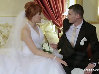 Redhead Bride Has Threesome Before Wedding anal double penetration hd