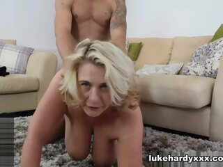 Divorcing BBW MILF Revenge Fucks Trainer - LukeHardyXXX big ass big tits blonde