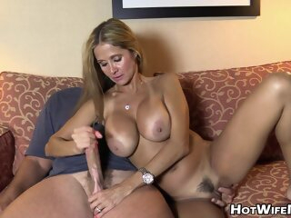 Rio Blaze - CUCKOLD TALK #14 big tits blonde cumshot