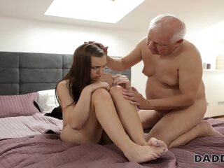 DADDY4K. Old man has troubles with computer but not with his dick blowjob czech european