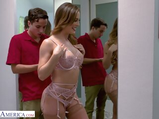 Cherie Deville - schoolboy came to fix mom's Wi-Fi big tits cumshot cunnilingus