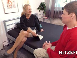 The Hotel Is Overbooked German blonde cumshot german